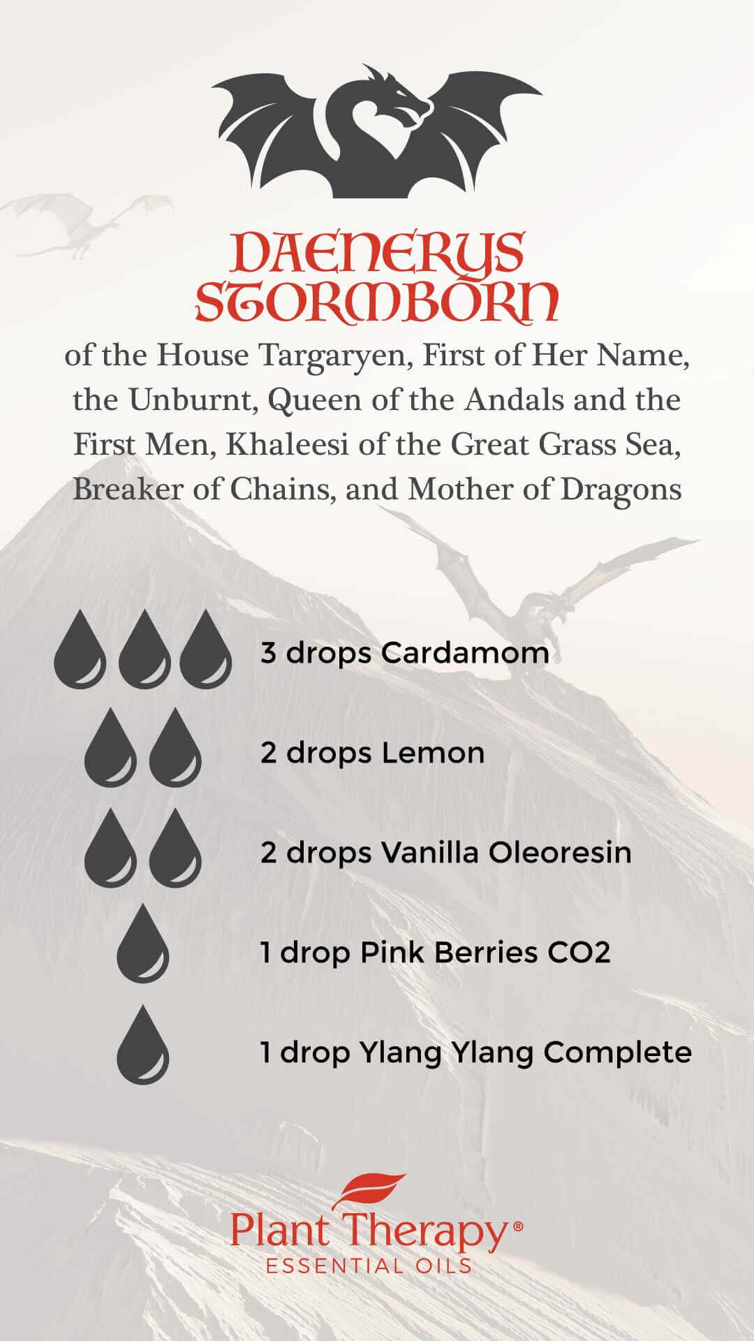 Game of Thrones Daenerys Diffuser Blend