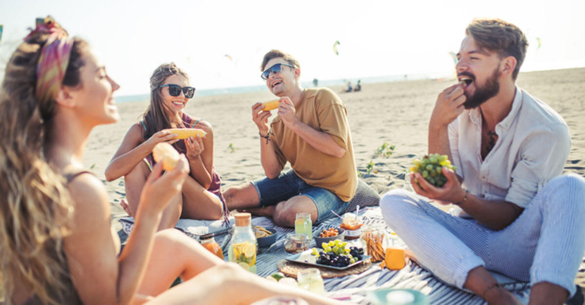 Evoke your best summer ever picnic on the beach