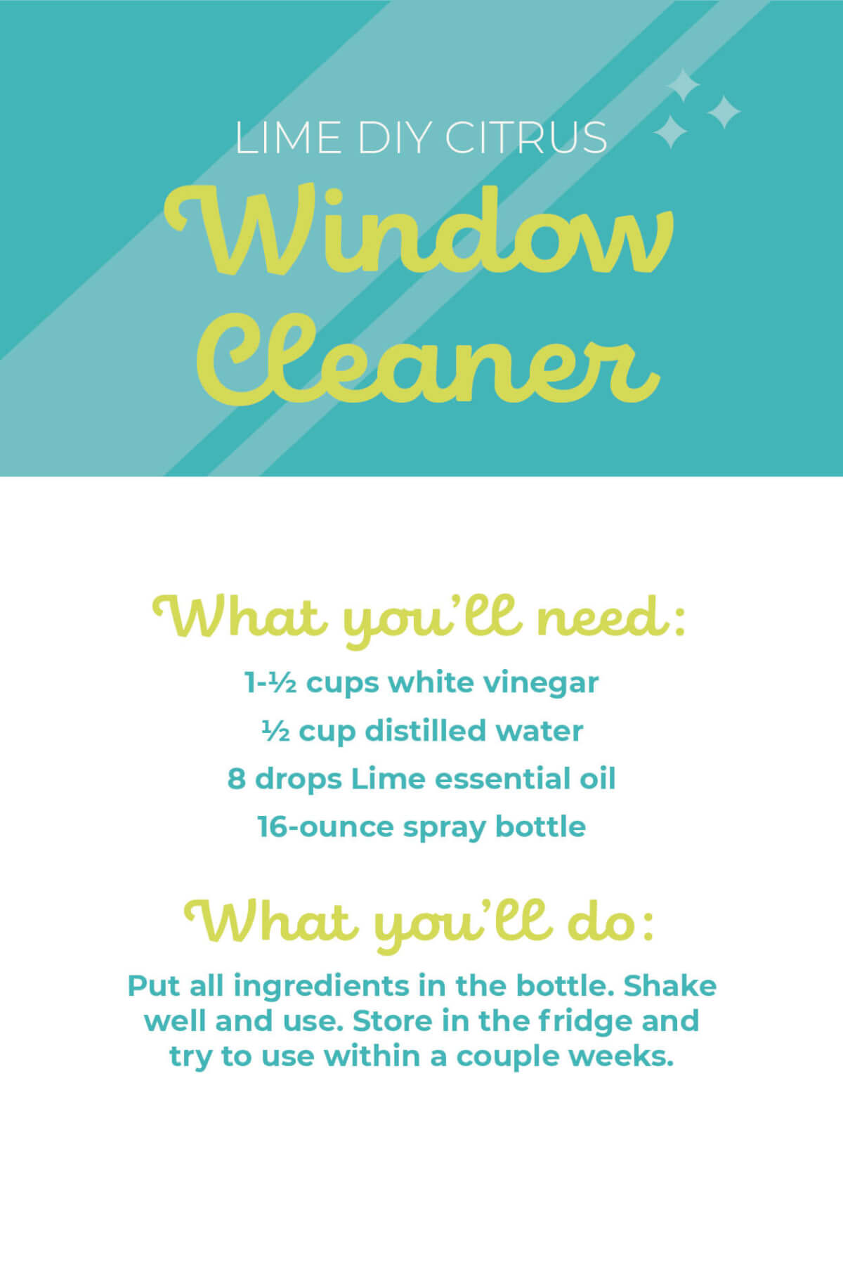 Lime Essential Oil DIY Citrus Window Cleaner