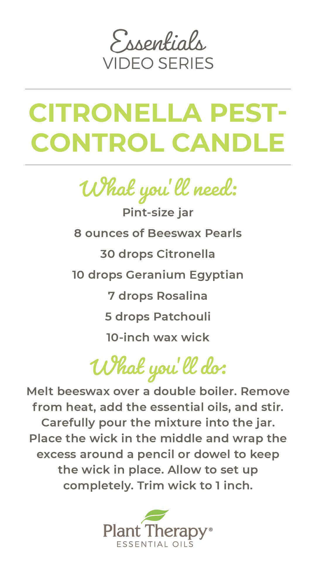 Essentials Video: Citronella Pest-Control Candle DIY