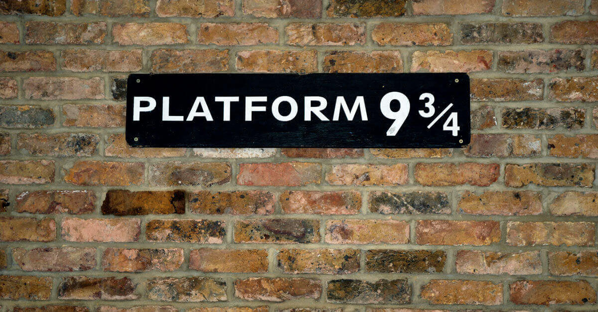 Platform 9 3/4 to the Hogwarts Express