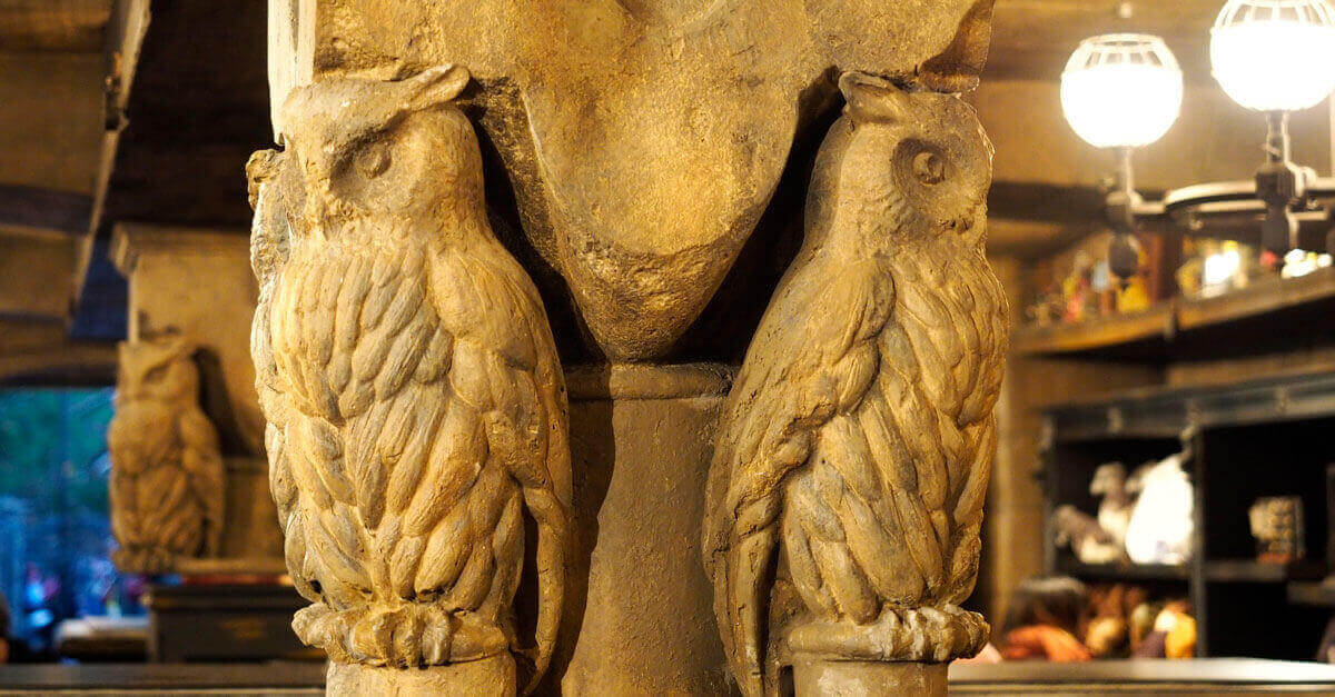 Owl carvings at Hogwarts