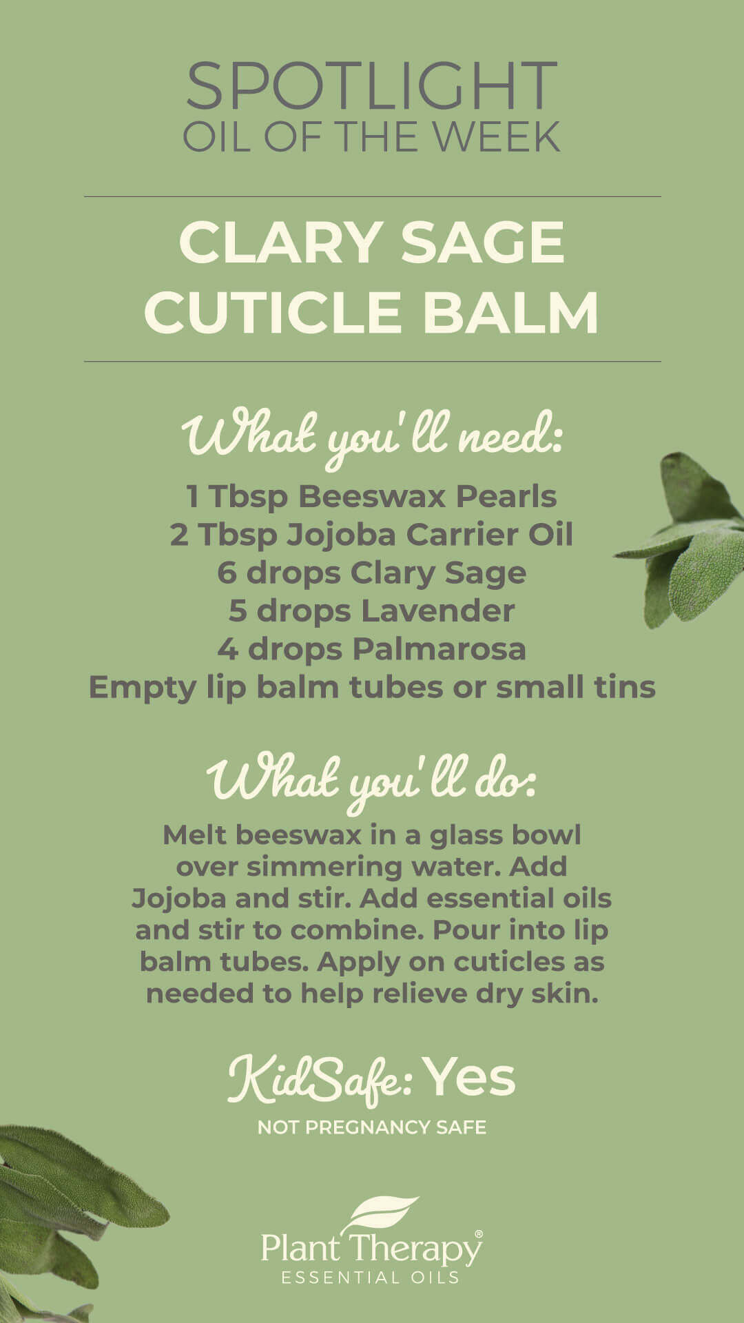 Essentials Video: Clary Sage Cuticle Balm DIY