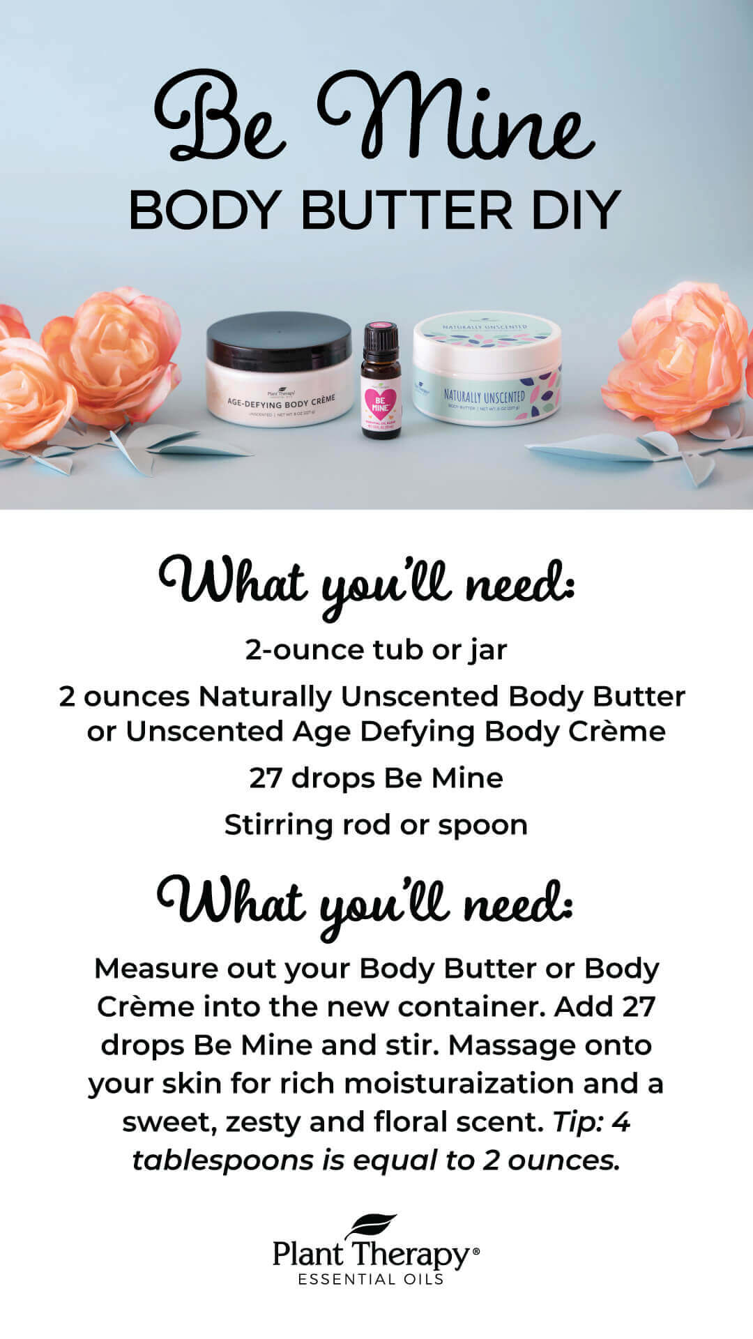 Plant Therapy Be Mine Body Butter DIY