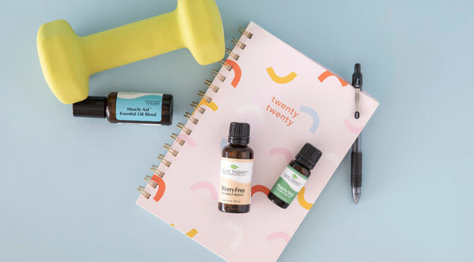 Plant Therapy's essential oil blends Muscle Aid, Worry Free, Munchy Stop