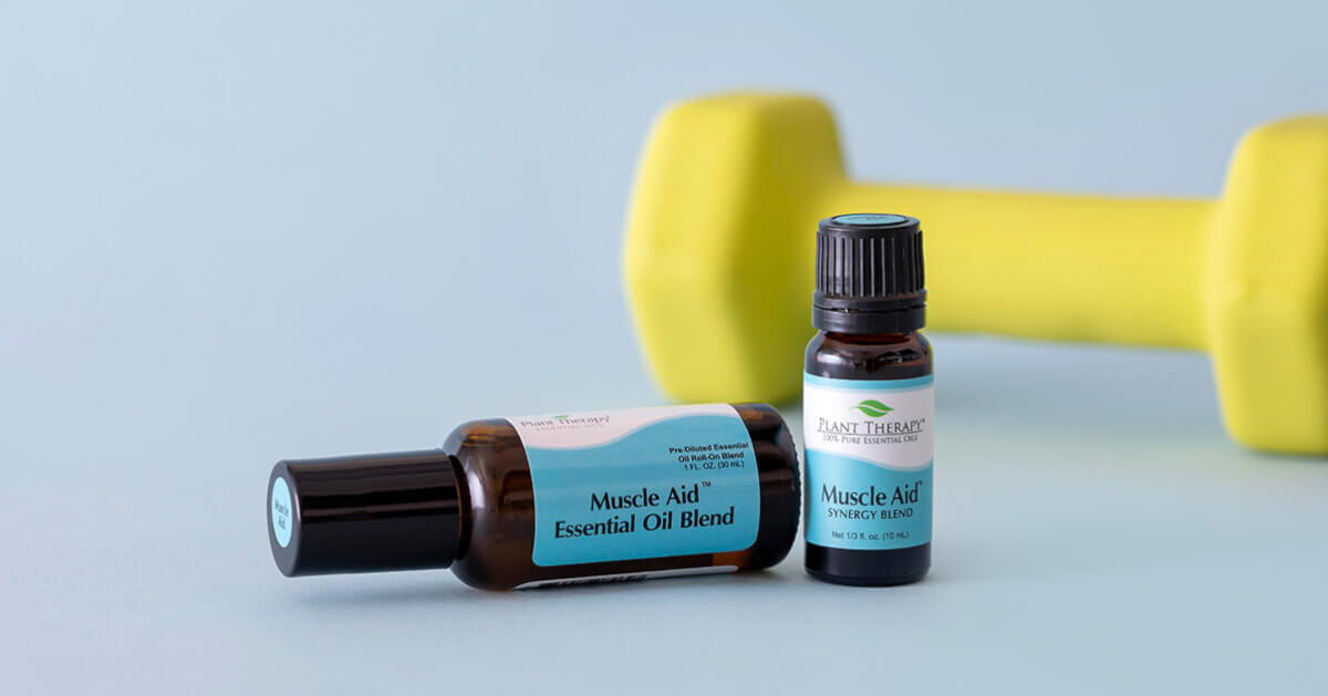 Plant Therapy Muscle Aid Essential Oil Blend and Roll-On