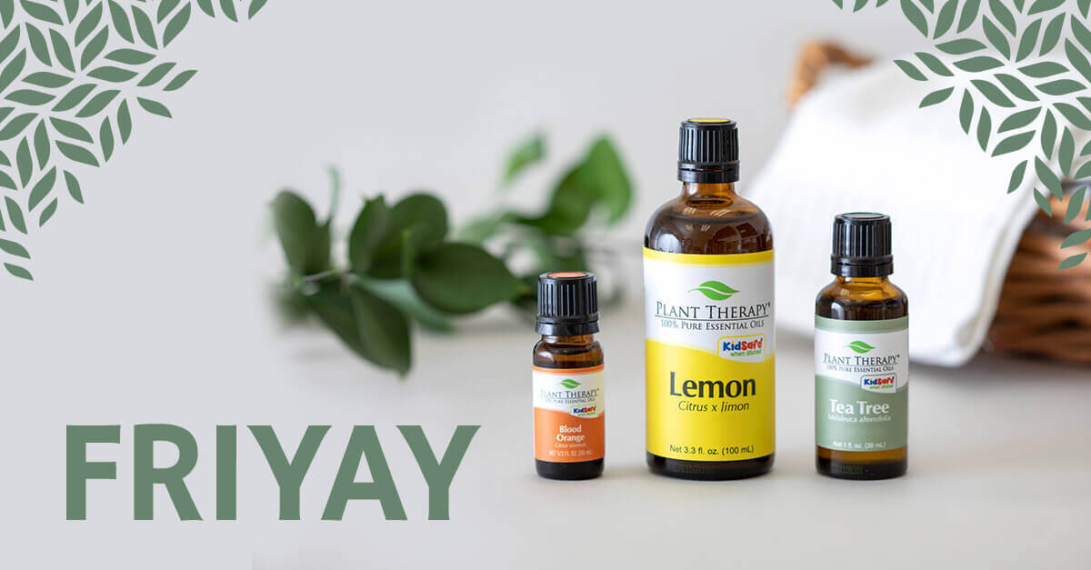FriYAY: Spring Cleaning Edition - Lemon, Tea Tree, Blood Orange Essential Oils