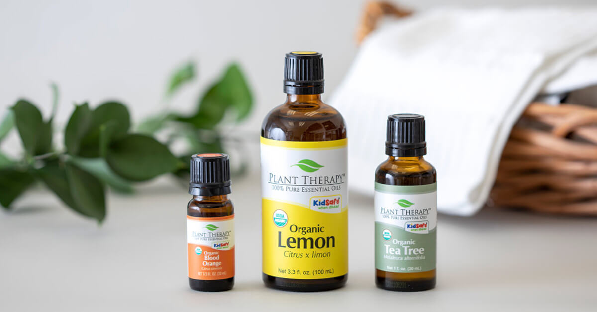 Plant Therapy Affordable Lemon, Tea Tree & Orange essential oils