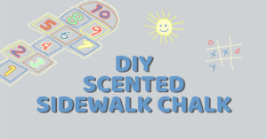 DIY Scented Sidewalk Chalk