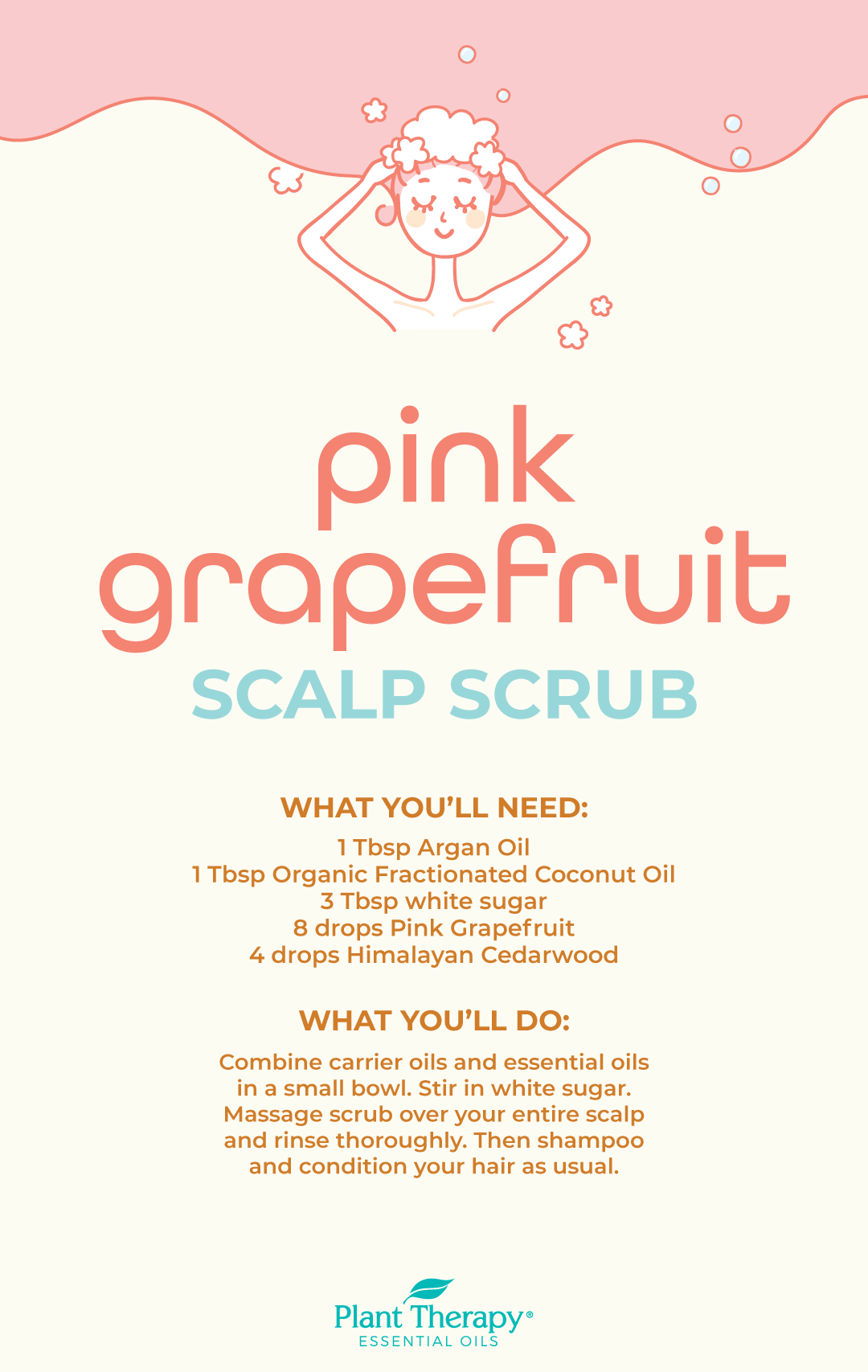 DIY Pink Grapefruit Scalp Scrub