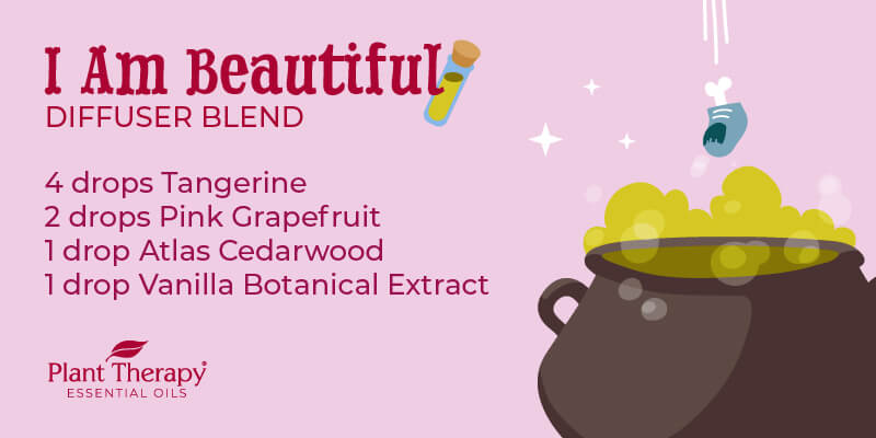 I Am Beautiful Hocus Pocus Themed Diffuser blend graphic