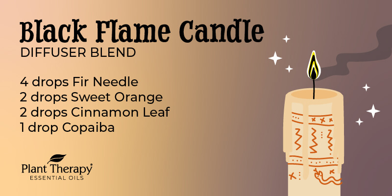 Black Flame Candle Diffuser Blend graphic