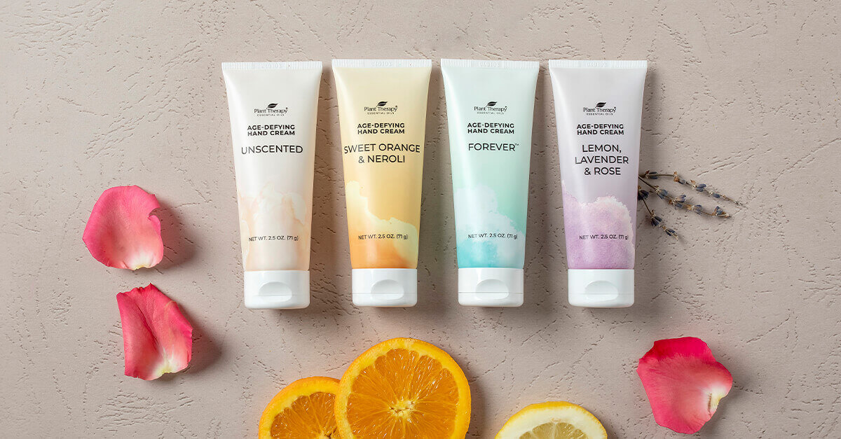 4 new age defying hand creams on a table