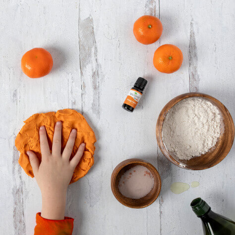 Sweet Orange Play Dough DIY
