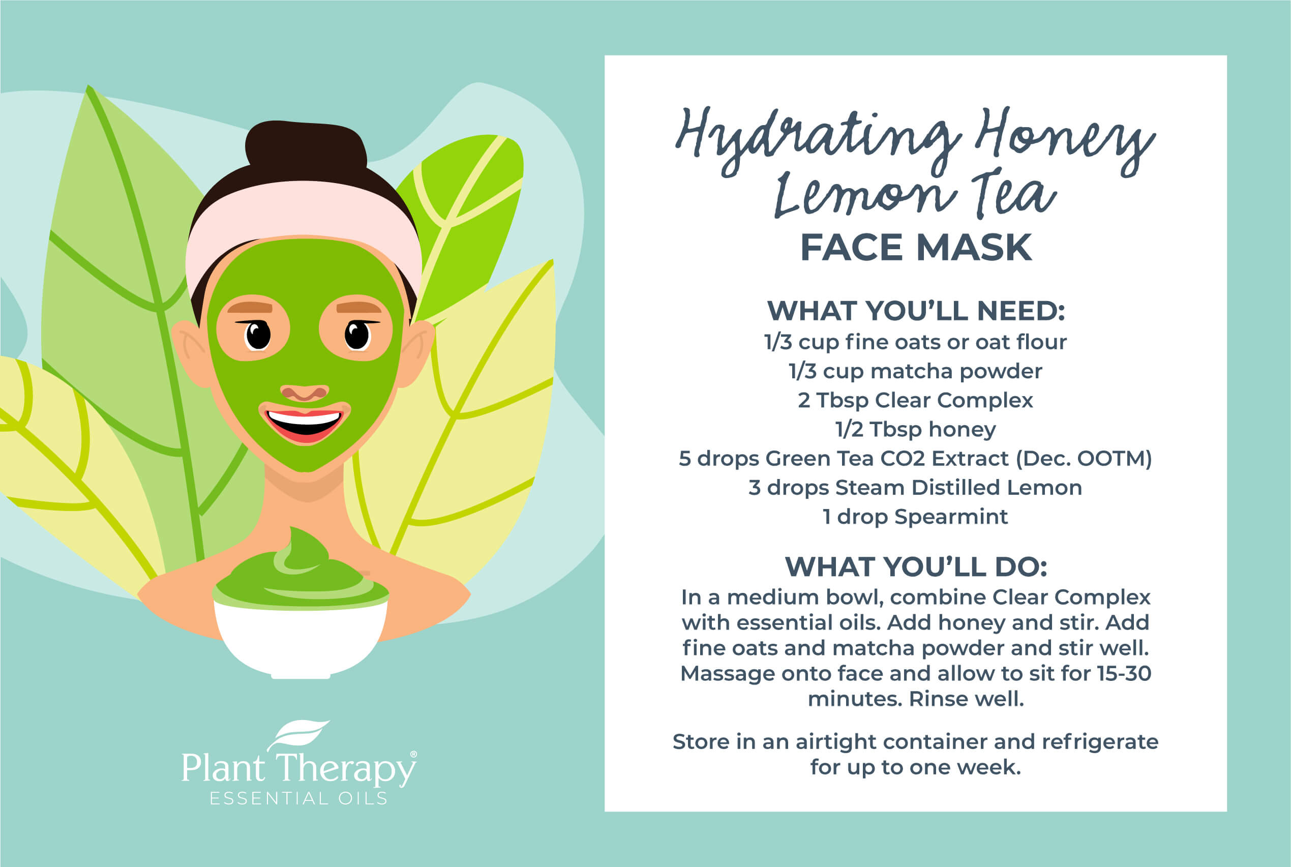 Hydrating Honey Lemon Tea Mask