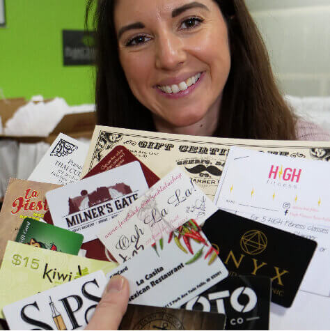 Gift Cards from local businesses