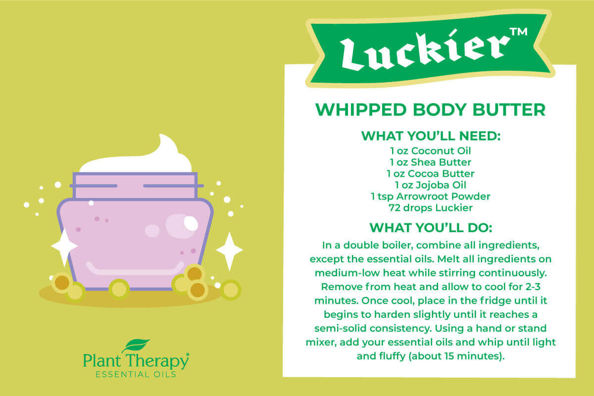 Plant Therapy's Luckier Whipped Body Butter DIY