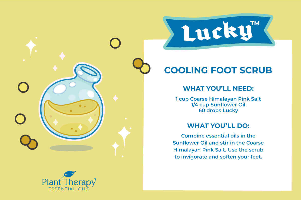 Plant Therapy's Lucky Cooling Foot Scrub DIY