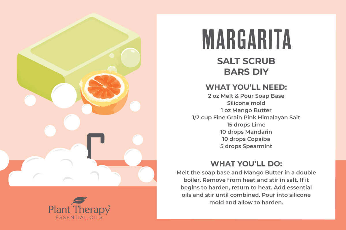 Margarita Salt Scrub Bar DIY recipe
