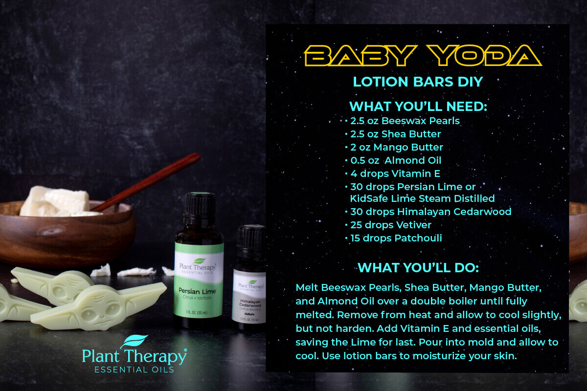 DIY instructions for Baby Yoda Lotion Bars