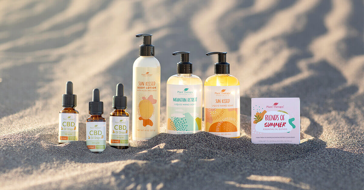 Lineup of Plant Therapy's Summer products 2021