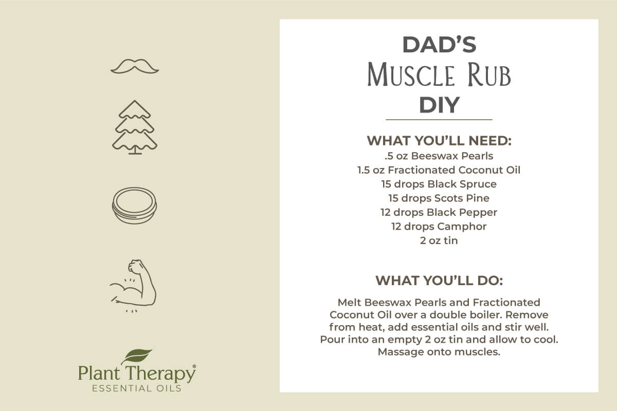 Dad's Muscle Rub DIY for father's day